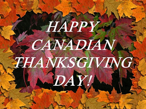 happy canada thksgiving