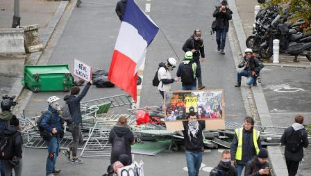 france protests anniversary 1