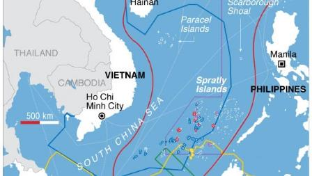 south china sea claims map