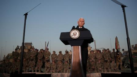 usa iraq pence